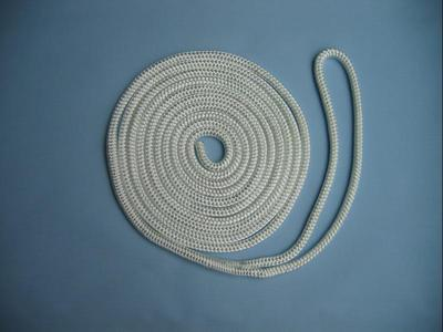 "5/8"" X 40' NYLON DOUBLE BRAID DOCK LINE - WHITE"